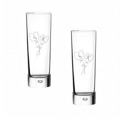 Okkalı Çift Rakı Bardağı