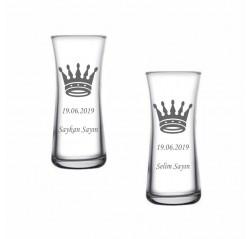 Kral Tacı Heybeli Rakı Bardağı
