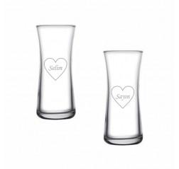 Kalp Heybeli Rakı Bardağı