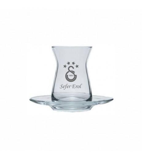 GS Logolu İnce Belli Çay Bardağı