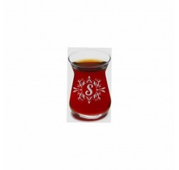 Motifli İnce Belli Çay Bardağı