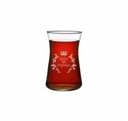 Motifli Heybeli Çay Bardağı