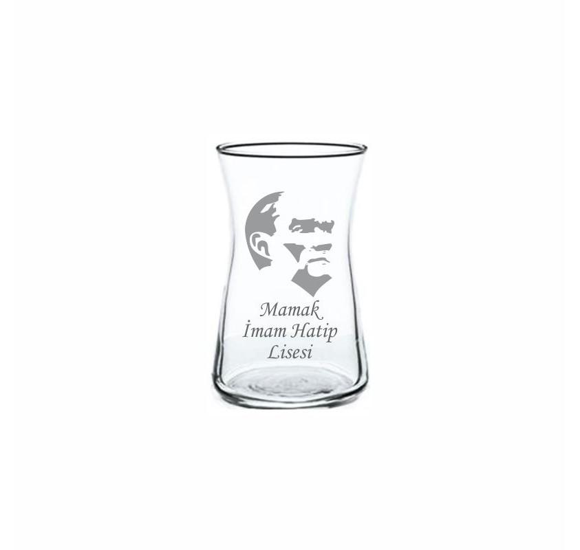Atatürk Heybeli Çay Bardağı