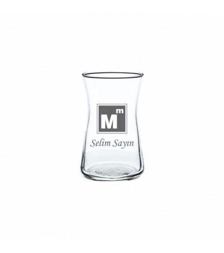 Mali Müşavir & Muhasebe Logolu Heybeli Çay Bardağı