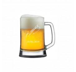 Atatürk İmzalı Viking Bira Bardağı